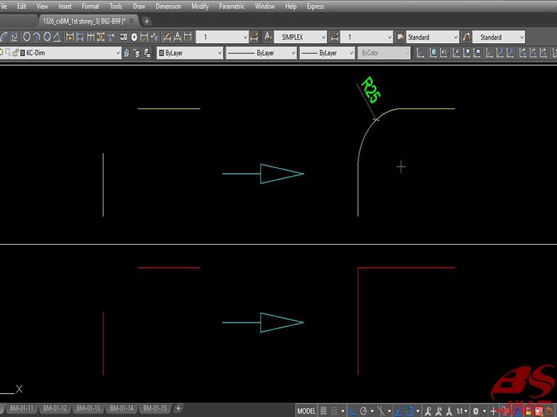 Hướng dẫn sử dụng lệnh Fillet trong CAD