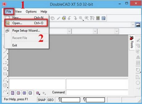 Hướng dẫn đọc file .dwg bằng DoubleCAD XT