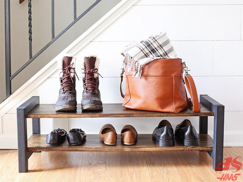 Cách 2: Làm kệ giày bằng kệ gỗ pallet cũ