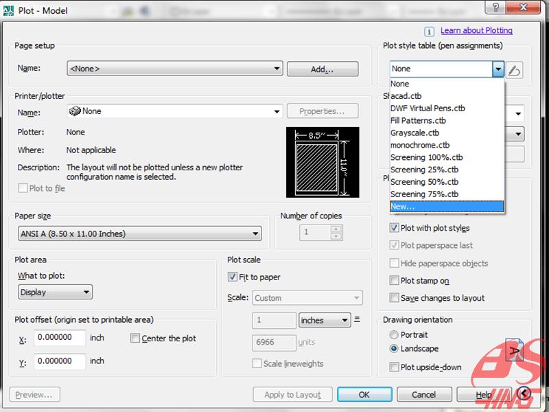Tác dụng của việc chỉnh nét in trong Cad